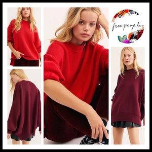 FREE PEOPLE BOHO PULLOVER TUNIC OVERSIZED TOP A2C